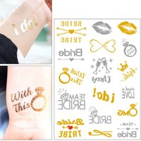 hot sale Creative Bachelorette party tattoo stickers Tempora...