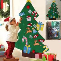 شعرت ديي شجرة عيد الميلاد مع ساذج الحلي هدايا عيد الميلاد السنة الجديدة الجدار شنقا عيد الميلاد الديكور الاطفال الاكسسوارات اليدوية WX9-1042