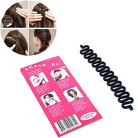 Fashion Design Female Hair Styling Clip Stick Bun Maker Brai...
