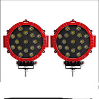 2 pezzi 7 pollici 51 w rotondo lavoro luce del LED per 4x4 offroad spot fascio moto barca trattore camion SUV Dviving fendinebbia 60 w / 63 w