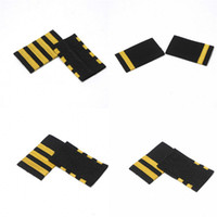 Four Gold Bars Airline Pilot Epaulets Captain Shoulder Board...