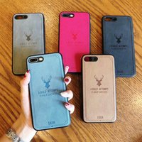Cloth Deer Phone Case For iPhone X 7 8 Plus XS MAX XR Cover ...