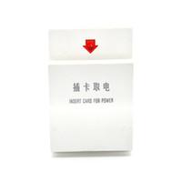فندق بطاقة بيضاء بطاقة التبديل تأخير التعريفي للاستيلاء على الكهرباء فندق نوع 86 مفتاح الطاقة 30A