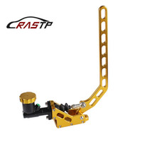 RASTP-Aluminum Hydraulic Drift Hand Brake Racing Parking Handbrake Lever Gear With Locking Oil Tank Gold RS-HB917