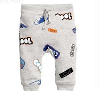 Petite maven automne bébé garçon vêtements coton cordon de serrage pantalon enfants lettre imprimer enfants pantalon pantalon d'école 10153