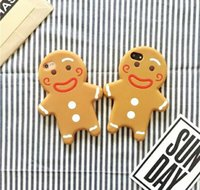 Caso in silicone morbido per biscotti 3D Gingerbread Cartoon per iPhone 5S 6 4.7 6S 7 8 Plus 5.5 goophone SE