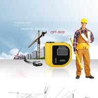 Medidor de distancia por láser, medidor de distancia ultrasónico, cinta medidor CP-3010 con nivel de burbujas regla W medición de temperatura B00660