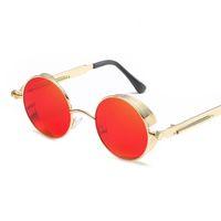 NUEVAS gafas de sol redondas de Steampunk del metal para los hombres  espejadas gafas de Sun 3b50ce2486cb