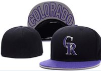 National Team Fitted Rockies hats Baseball Embroidered Team ...