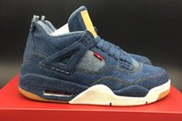 AAAAA New Arrival Mens Retros 4 Denim Basketball Shoes, Retro...