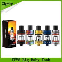 TFV8 Big Baby Tank Atomiseurs avec contrôle de flux d'air de 5 ml de remplissage de remplissage TFV8 Big Baby Cloud Beast Atomizers Stick V8 X8 Vaporisateur