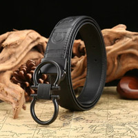 Men Ceinture Luxury Genuine Leather Belt Buckle Wide Belt Fa...
