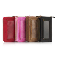 Retro Double Zipper Wallet Phone Case for iPhone X 5 6 7 8 P...