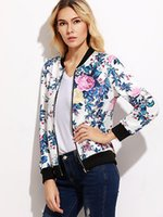 Women Fashion Floral Jacket Tops Long Sleeve Ladies Casual B...