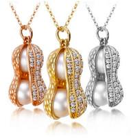 Peanut Pendentif Colliers Chaîne Collier Nouveaux Bijoux De Mode Cristal Chunky Déclaration Bib Pendentif Chaîne Collier Ras Du Cou