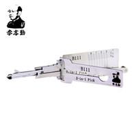 Orijinal Lishi 2 in 1 B111 2 in 1 Kilit Pick ve Decoder Orijinal! GMC Hummer için kullanılır