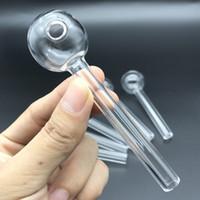 Tubo del bruciatore di olio del quarzo di cristallo Tubo della mano della mano del fumo 2mm Tubo del tubo di quarzo del tubo di quarzo VS Bruciatore di olio di vetro tradizionale per Bong DAB Rig