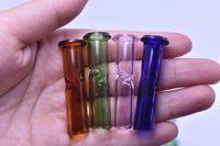마른 담배 허브에 대한 미니 유리 필터 팁 담배 담배 홀더 롤링 논문 두꺼운 Pyrex 다채로운 유리 흡연 파이프