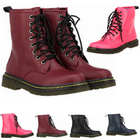 4 Colors Leather Martins Women Boots Motorcycle Military Cou...