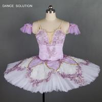 Delicioso tutu de fadas lilás para meninas adultas traje de dança bailarina profissional tutu dress personalizado clássico tutus b18033