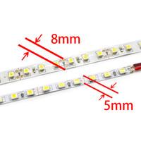 5 мм Ширина 5M 2835 600 SMD Гибкие светодиодные полосы 120 водить / м Светодиодная лента белый / теплый белый