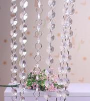 Lot başına 33 feet Kristal Garlands Akrilik Taşlar Boncuk Tellerinin Boncuk Perde Düğün masa Centerpieces Manzanita Ağacı Asılı Teller Strung
