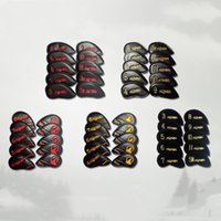 6 styles HONMA AERES golf iron headcovers 10 pcs set gold ir...