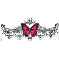 12pieces Mix Design Design New Fashion Womens Body Art Waterproof Temporaneo Sternum Tattoo Sticker Butterfly Rose Tattoo