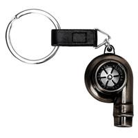 Turbine Porte-clés Haute Qualité Réel Sifflet Son Auto Partie Modèle Porte-clés Turbocompresseur Porte-clés En Métal De Voiture Turbo Porte-clés