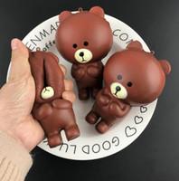 Squishy Rilakkuma Bear 12см Медленно растущая игрушка снимает стресс-торт Сладкое животное PU Ремешок сотового телефона Телефон Подвеска брелок игрушка в подарок
