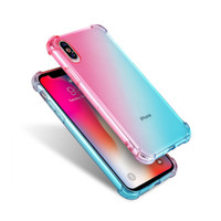 Gradient Couleur 1.5 MM Haute Qualité Transparent TPU Shuffproof Air Coussin Air Phone Case pour iPhone 6 7 8 Plus X XS Max XR