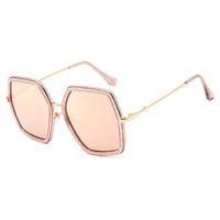 2018 platz Luxus Sonnenbrille Markendesigner Damen Übergroßen Kristall Sonnenbrille Frauen Großen Rahmen Spiegel Sonnenbrille Für Weibliche UV400