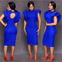 Royal Blue Cocktail Dresses 2018 New robe de bal courte Cap ...