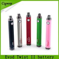 Evod Twist II 2 VV Bateria 1300mAh Variável Tensão 3.3V-4.8V Batteria Vs Tesla Sidewinder Baterias 0204118