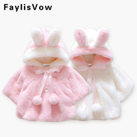 Baby Girls Fur Warm Coat Infant Winter Cloak Jacket Thick Wa...