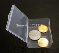 50 pçs / lote pequena caixa retangular Caixas de armazenamento de plástico transparente Capa de contêineres para parafusos moedas 5.5 * 4.3 * 2.2cm Preço de fábrica Especialista Qualidade Qualidade mais recente