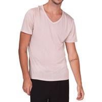 100% чистый шелк вязать новые мужские короткие рукава V-образным вырезом повседневная футболка Tee Plain Size M L XL XXL