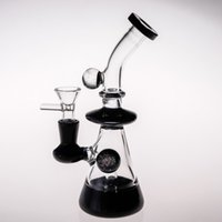 Wholesale 19cm Black Glass Bong Joint 14. 4mm Inline Percolat...