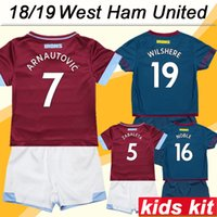 7ea511a30591b 2018 19 West Ham United CHICHARITO WILSHERE Kit de niños Camisetas de fútbol  ZABALETA ARNAUTOVIC Camisas