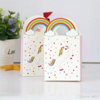 Creative Licorne Cadeau Sacs Papier Unicornio Boîte De Bonbons Wrap Mariage Festival Articles D'anniversaire Portable Rainbow Poignée 0 29zj ii