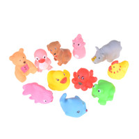 12 Colors Small Animal Vocalization Baby Child Bath Toys Wat...