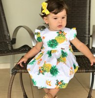 Baby Girls INS Summer Dresses 2018 New European Styls Pineap...