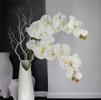 Orquídea Borboleta artificial Ramo Flor Decoração Real Toque Flores Simualtion Plantas de Casamento Em Casa Decoração Do Partido Do Escritório
