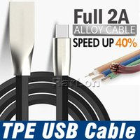 Type C Micro V8 USB Cable 1M 3ft TPE Zinc Alloy Plug USB Cha...