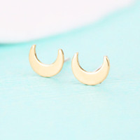 cute little small half moon charm earrings simple small cres...