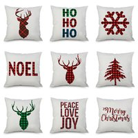 Christmas Pillow Case Cushion Covers Xmas Tree Snowflakes Re...