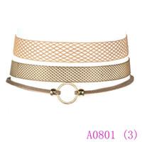 3 stücke Mode Frauen Handgemachte Aushöhlen Spitze Halsband Halskette Gothic Stil Legierung Kreis Chocker Kolye Bayan Collier A0801