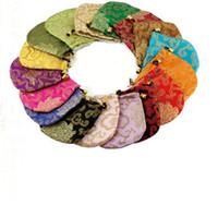 Damas sac créatif bijoux en soie chanceux chinois 11x11cm soie Brocade Bijoux Pochette de rangement Sac personnalisé Emballage cadeau Drawstring