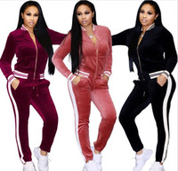 Frauen Kleidung Sportbekleidung Frauen 2 Stück Set Casual Frau Sportanzüge Zipper Hoodies + Pants Sets weibliche Trainingsanzüge