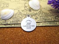 40шт - «танец под дождем» прелесть нержавеющей стали больше стиля для выбора DIY очаровывает подвески для ожерелья